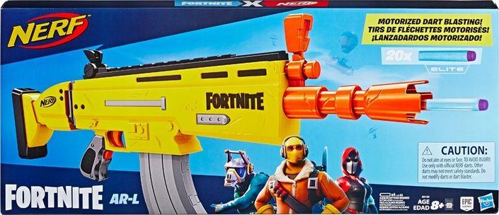 Hasbro Nerf Fortnite AR-L, Nerf Gun(yellow / gray) Rotaļu ieroči