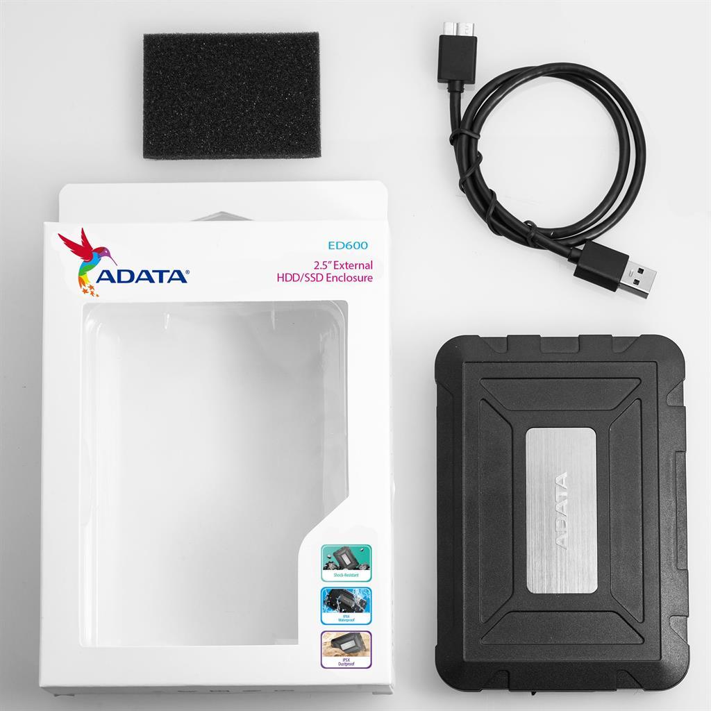 ADATA external Housing ED600 USB 3.1 2,5  for SSD/HDD cietā diska korpuss
