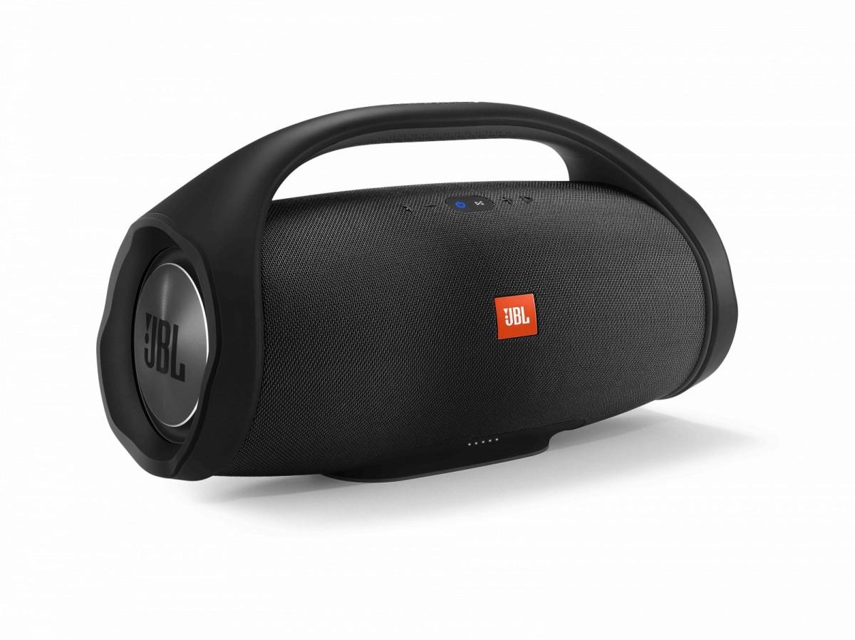JBL Boombox Black, Wireless Speaker with biggest sound and longest play time, Waterproof IPX7 pārnēsājamais skaļrunis