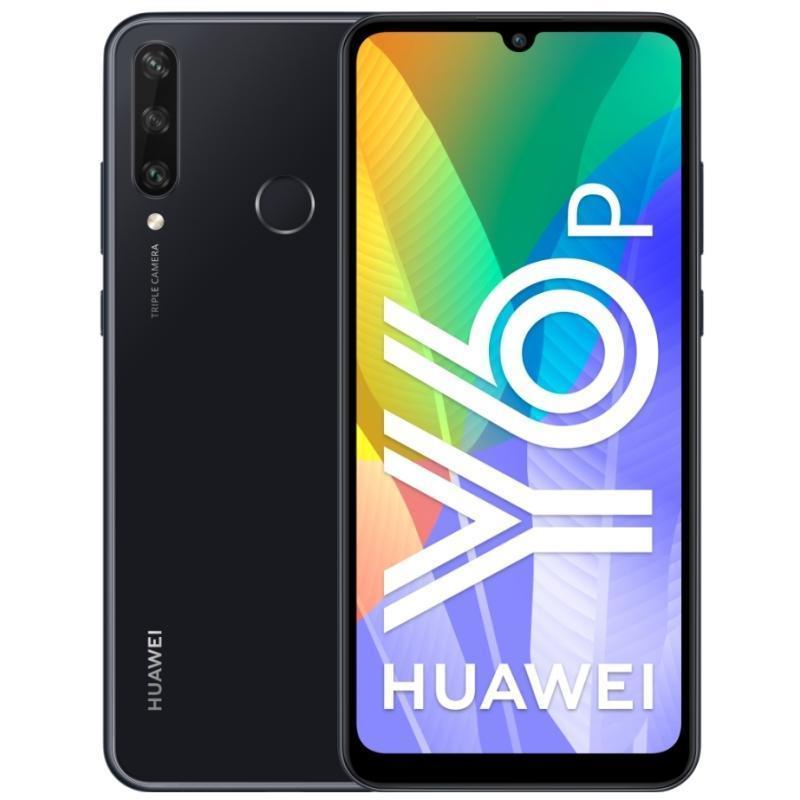 Huawei Y6p Dual 3/64GB LTE MED-LX9N Midnight black Y6p Dual Midnight black Mobilais Telefons
