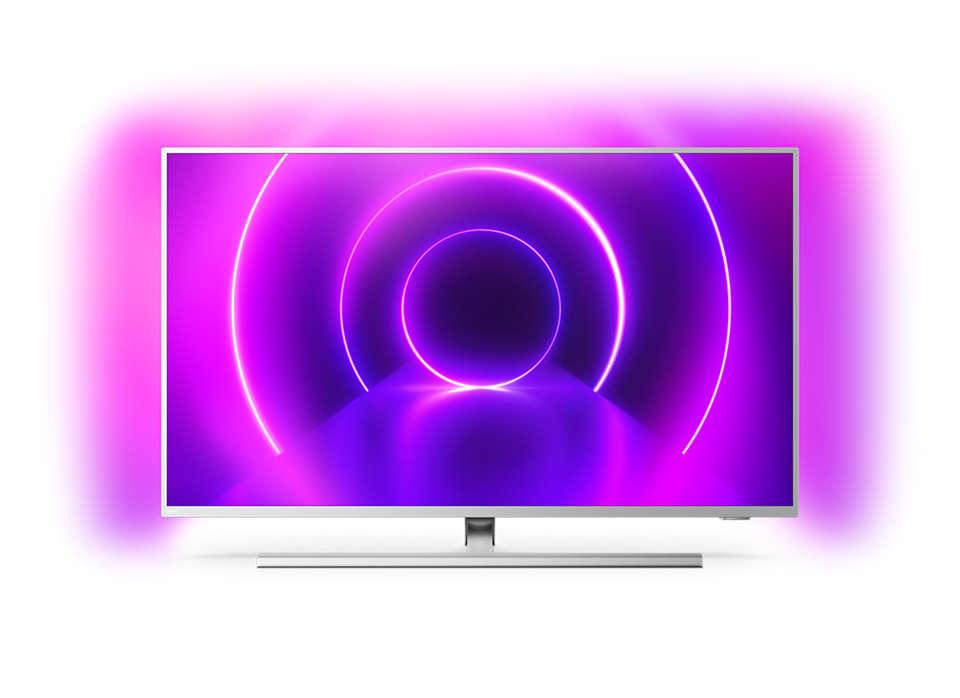 Philips 50PUS8505/12 50 (126 cm), Smart TV, Android, 4K Ultra HD, 3840 x 2160 pixels, Wi-Fi, DVB T /T2/T2-HD/C/S/S2, Silver 8718863022962 LED Televizors