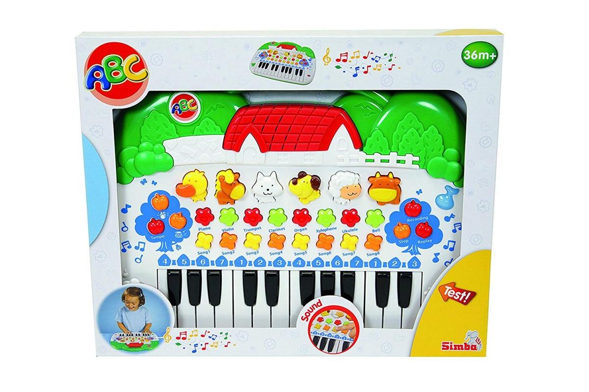 Simba ABC Keyboard with animals - 104018188 mūzikas instruments