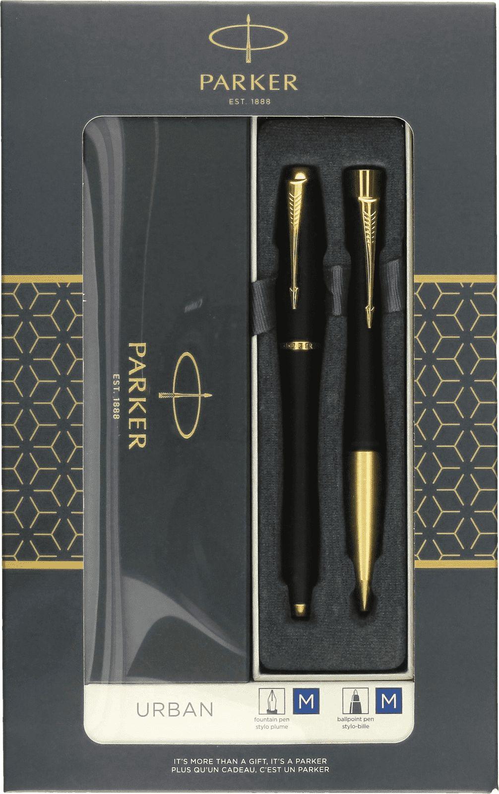 Parker FOUNTAIN PEN SET + BALL PEN URBAN BLACK GT 2093381