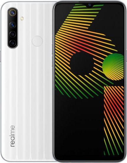Smartfon realme 6i 128GB Dual SIM Bialy RMX2040WM Mobilais Telefons