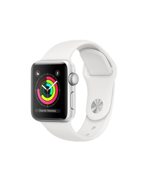 Apple Watch Series 3 GPS 38mm Silver Alu White Sport Band Viedais pulkstenis, smartwatch