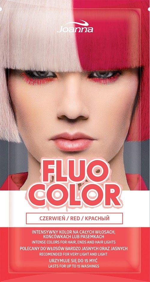Joanna Fluo Color Szampon koloryzujacy w saszetce Czerwien 35g 525162