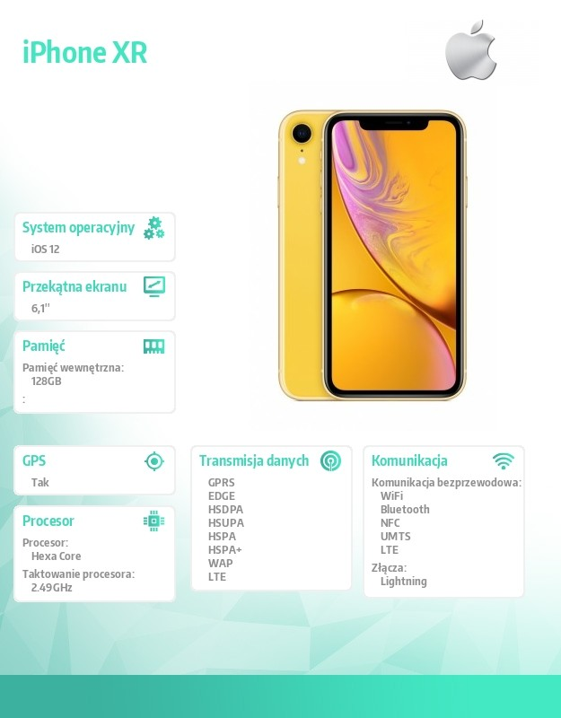 IPHONE XR YELLOW 128GB Mobilais Telefons