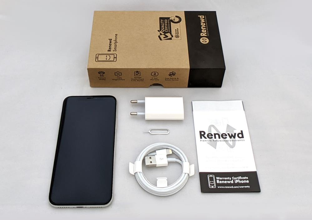 MOBILE PHONE IPHONE X 64GB/SILVER RND-P10264 APPLE RENEWD RND-P10264 Mobilais Telefons