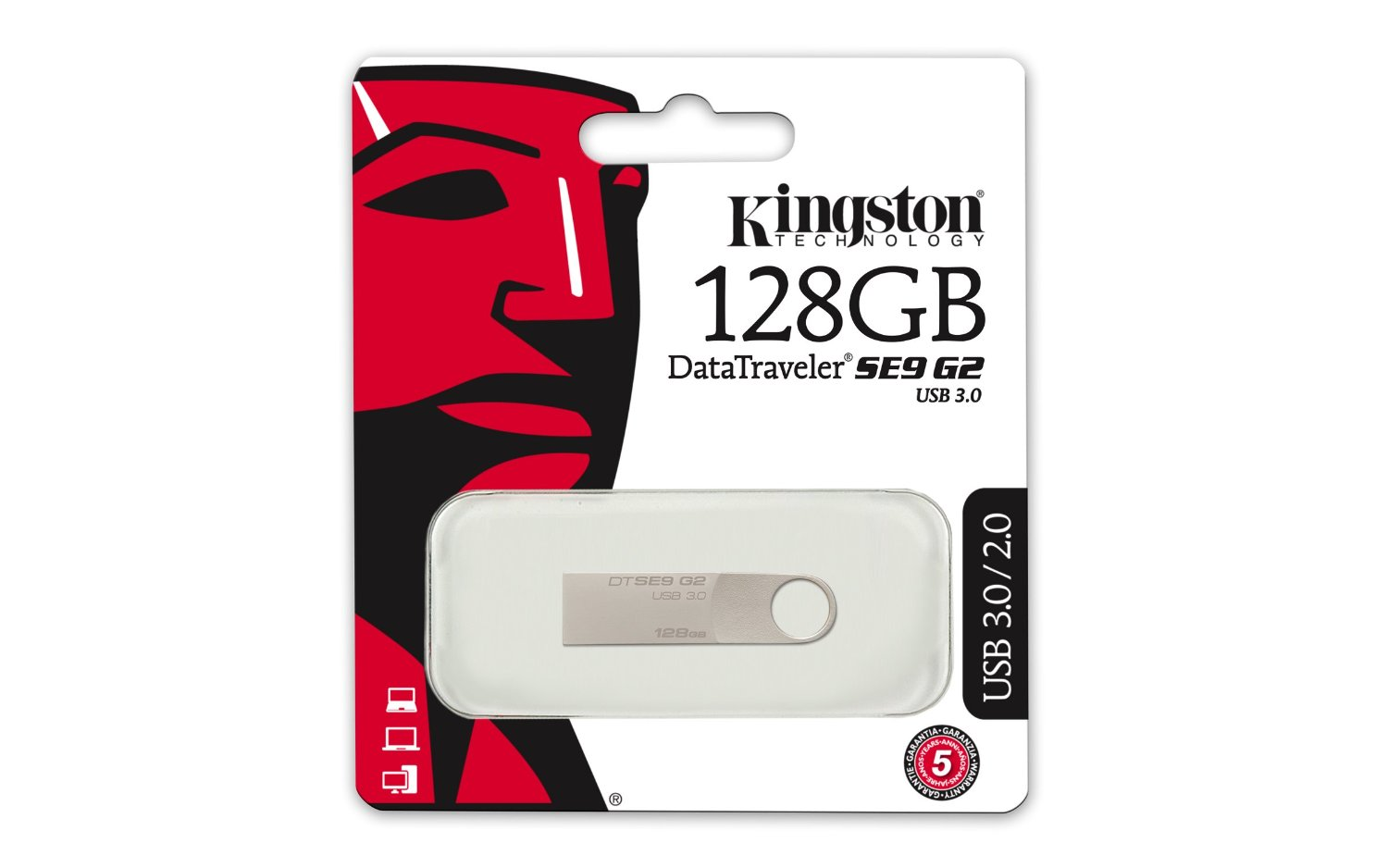 KINGSTON 128GB USB3.0 DataTraveler SE9 USB Flash atmiņa