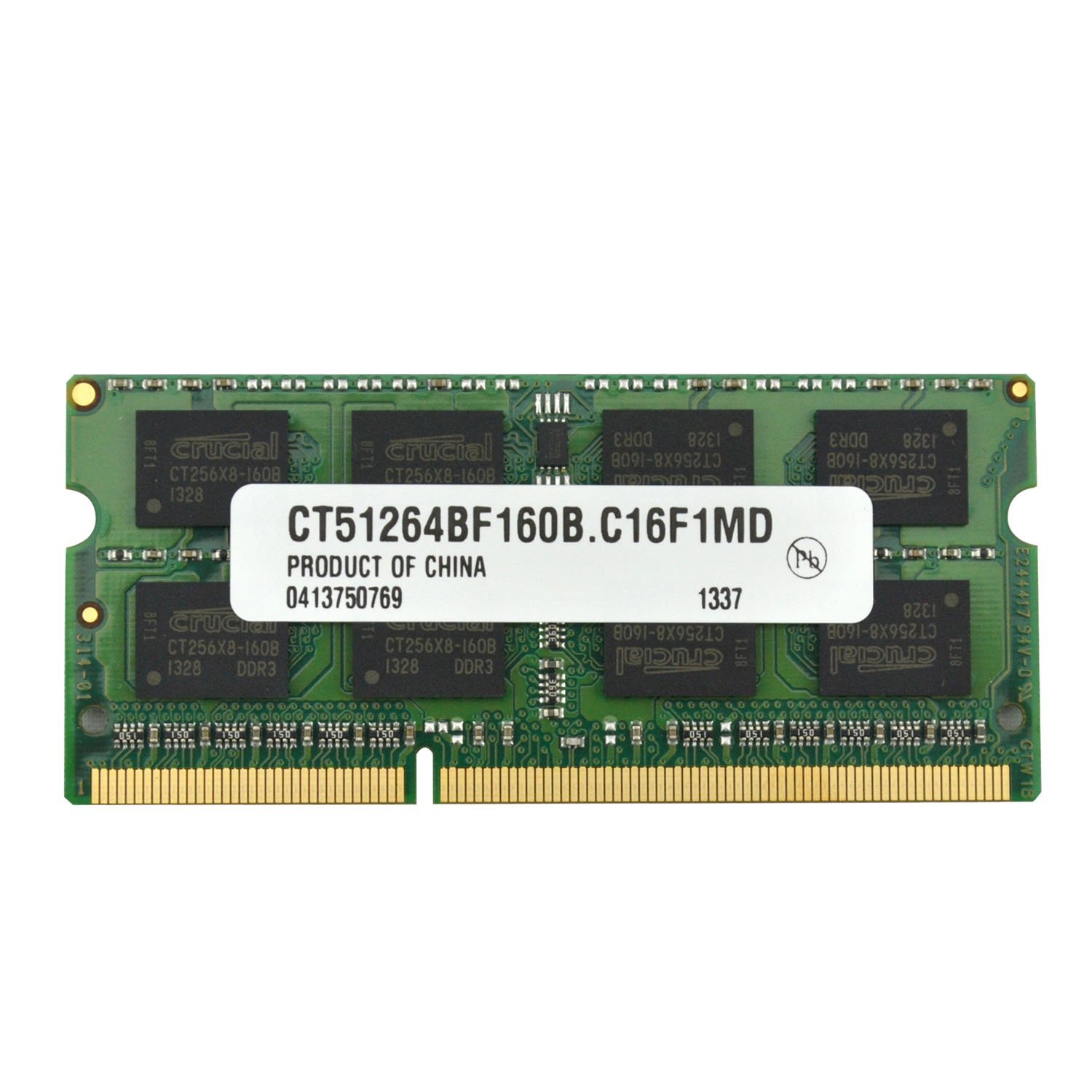 Crucial 4GB 204-pin SODIMM DDR3 PC3-12800, CL=11, Unbuffered operatīvā atmiņa