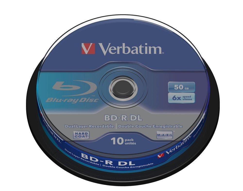 Verbatim Blu- Ray- Disk - 10 x BD- R DL - 50GB 6x - Spindel matricas