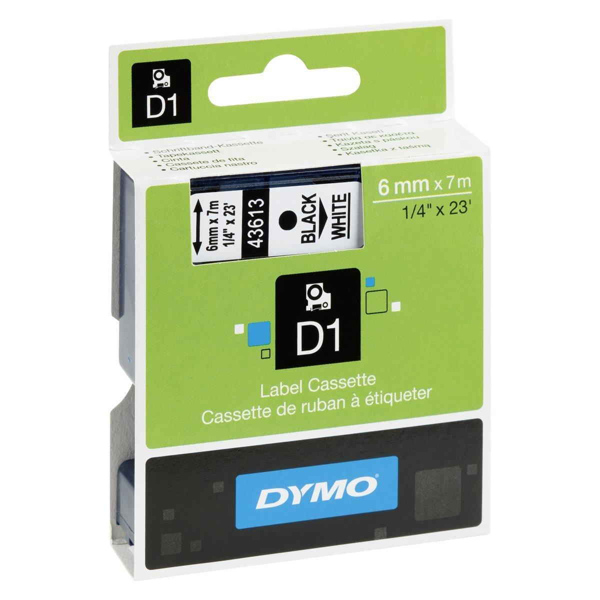 DYMO TAPE D1 6X7M   BLACK/WHITE S0720780 papīrs