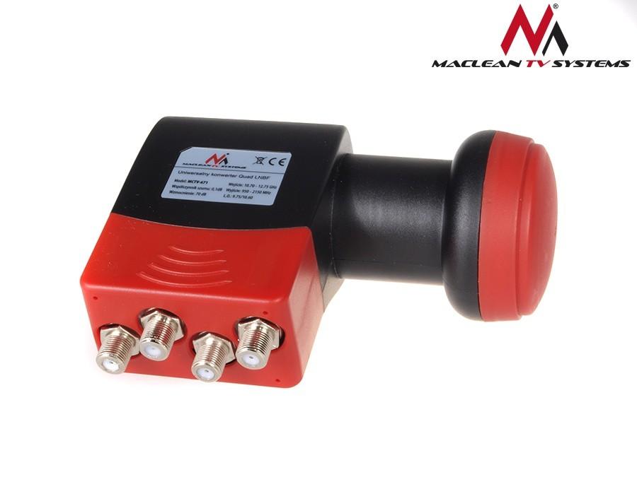 Maclean LNB quad MCTV-671 Satelītu piederumi un aksesuāri