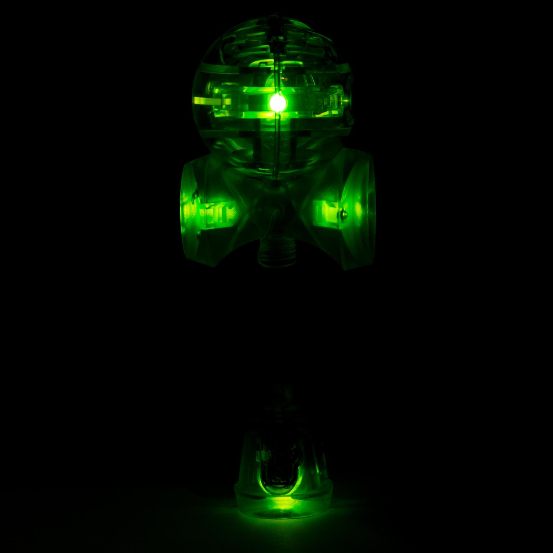 YoYoFactory KENDAMA LED balta (baterijas k-tā) YO 041