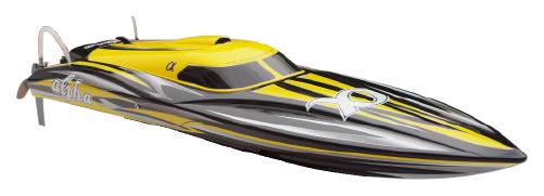 Motorboat Alpha 2CH 2.4GHz PNP - Yellow JOY/8901-YEL