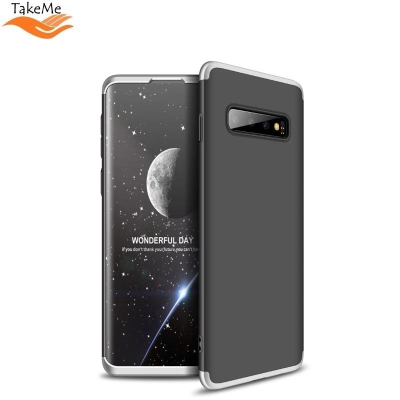 TakeMe Plāns 3-daļīgs Maks telefonam ar 360 grādu aizsardzību priekš Samsung Galaxy S10e Melns/Sudrabains