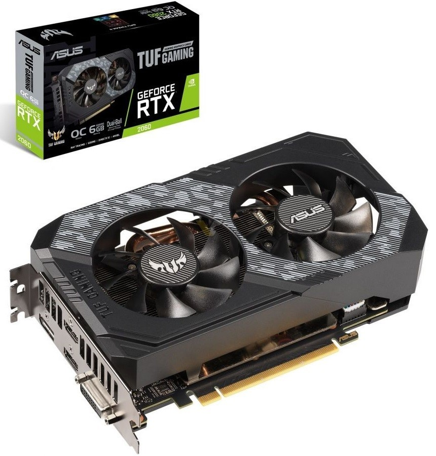 Asus TUF GeForce RTX 2060 Gaming OC 6GB GDDR6 (TUF-RTX2060-O6G-GAMING) video karte