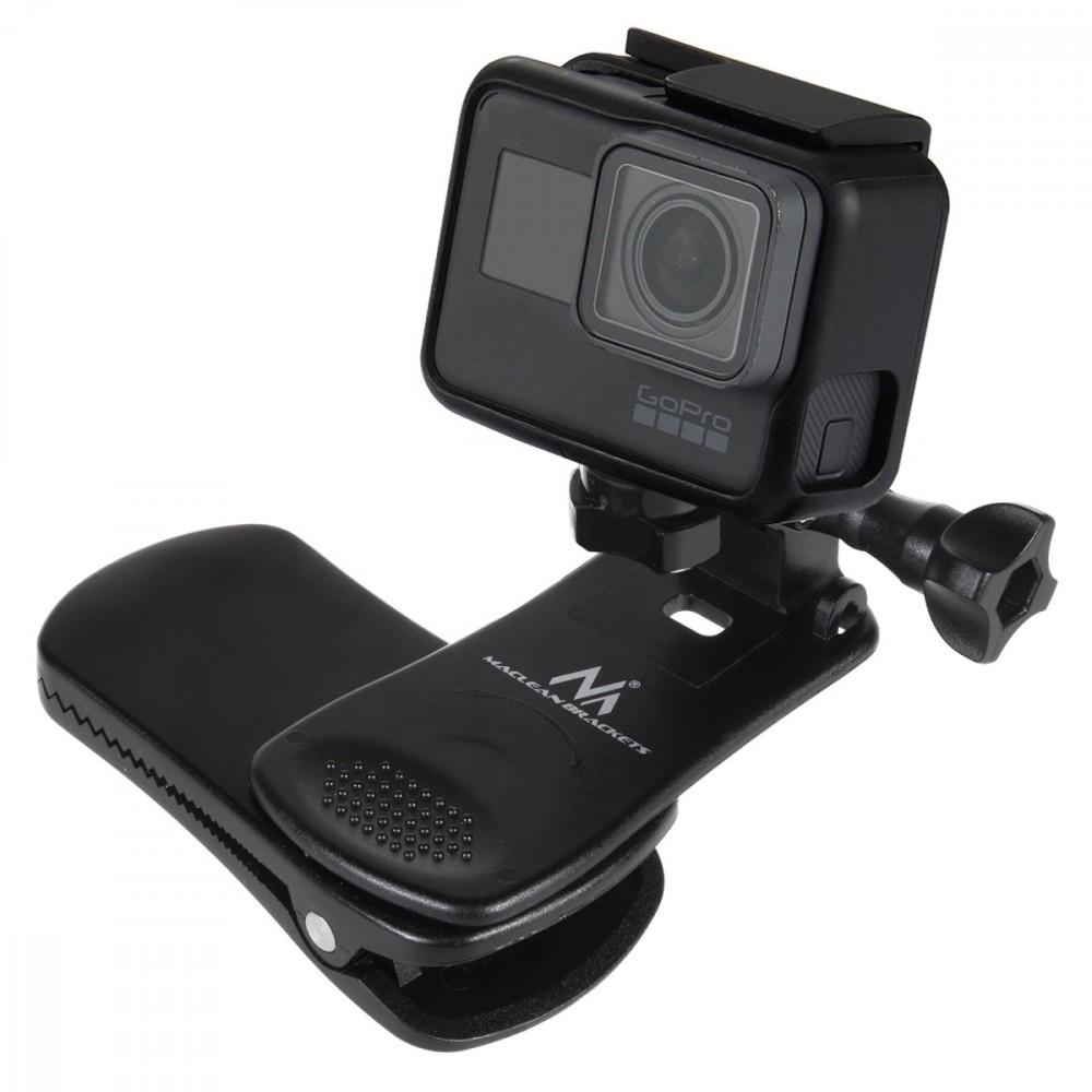 Maclean MC-820 Universal clip, fastening for GoPro cameras, Xiaomi, Ekken, SJCam Sporta kameru aksesuāri