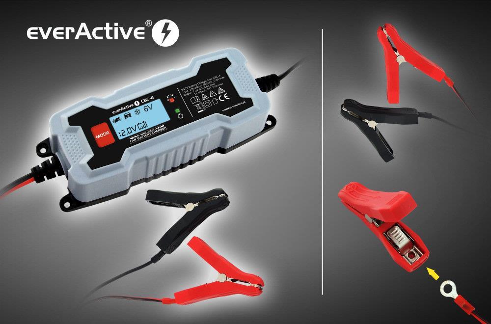 EverActive CBC-4 auto akumulatoru lādētājs