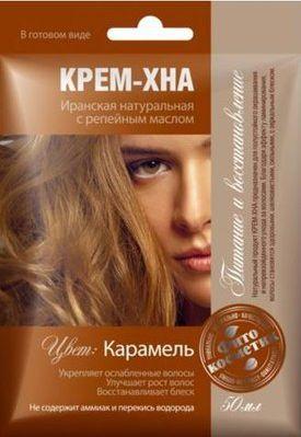 Fitocosmetics Kremowa henna z olejem lopianowym Karmel 50ml 4670017920217