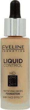 Eveline Liquid Control HD Face foundation with dropper No. 030 Sand Beige 32ml tonālais krēms