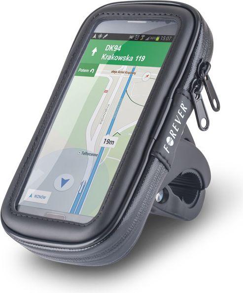 Forever BH-100XL Universāls (9x16.5cm) Velo stieņa stiprinajums Telefonam / GPS Melns Mobilo telefonu turētāji