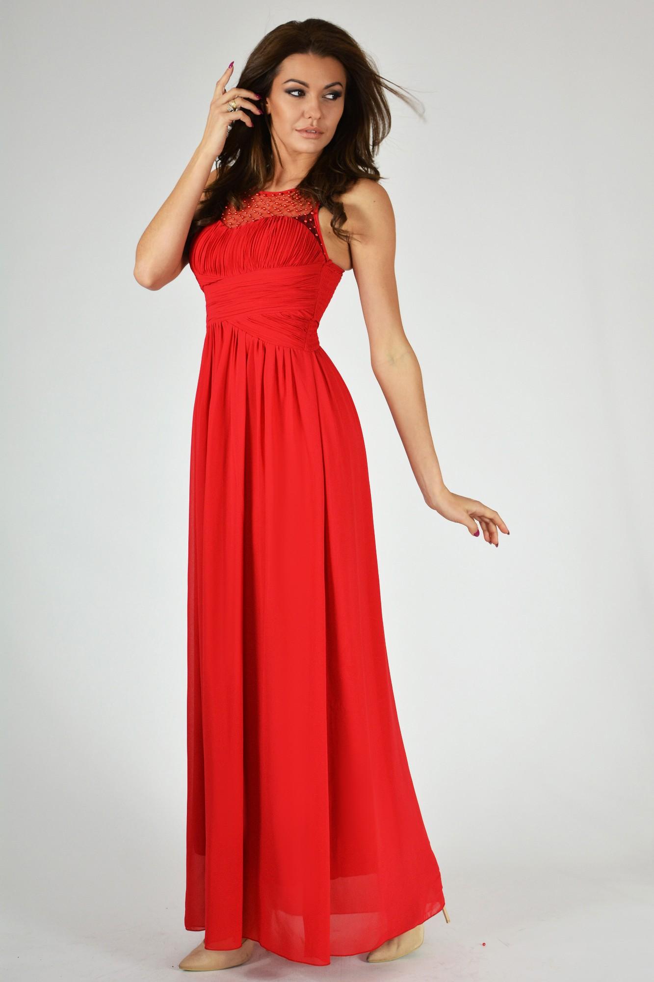 EVA&LOLA Sukienka R1238 czerwona r. L (9709) 807009709435 Kleitas sievietēm