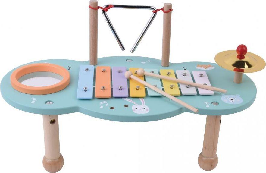 AdamToys Drewniany stolik muzyczny z instrumentami 5907554440137
