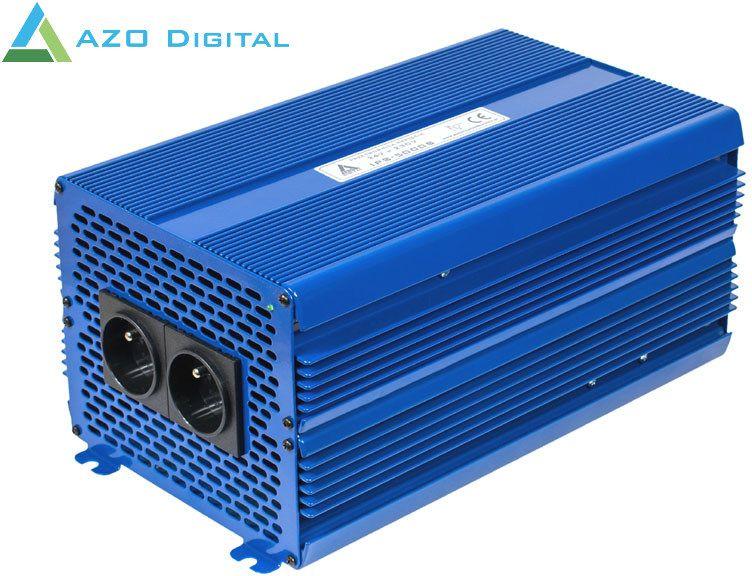 AZO DIGITAL inverter 24 VDC / 230 VAC voltage converter ECO MODE SINUS IPS-5000S 5000W Strāvas pārveidotājs, Power Inverter