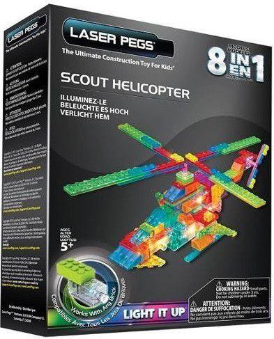 LASER PEGS 8 in 1 Scout Helicopter (PB2150B) konstruktors
