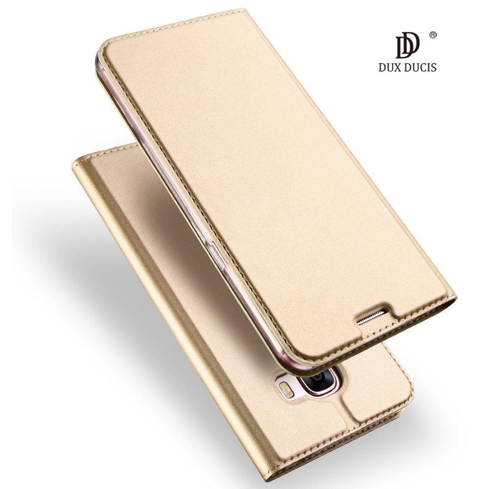 Dux Ducis Premium Magnet Case Grāmatveida Maks Telefonam Huawei P20 Lite Zeltains maciņš, apvalks mobilajam telefonam