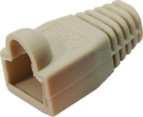 Modular Plug Kink Protect. Sleeves grey (100 pcs) datortīklu aksesuārs