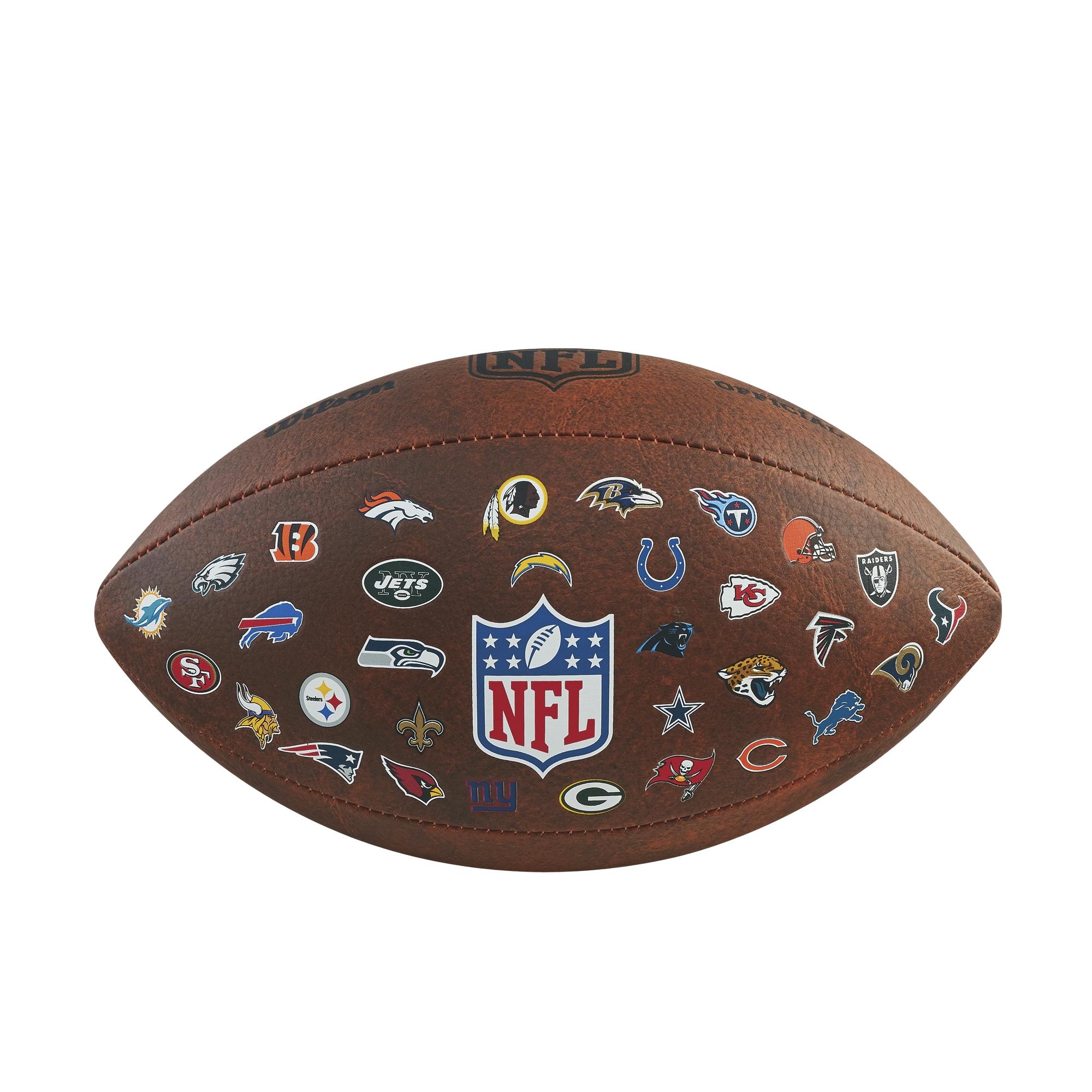 WILSON amerikanu futbola bumba NFL 32TEAM LOGO Junior bumba