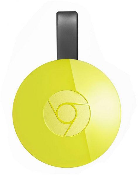 Google Chromecast 2 yellow multimēdiju atskaņotājs