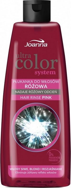 Joanna Ultra Color System Plukanka do wlosow rozowa  150 ml 525963