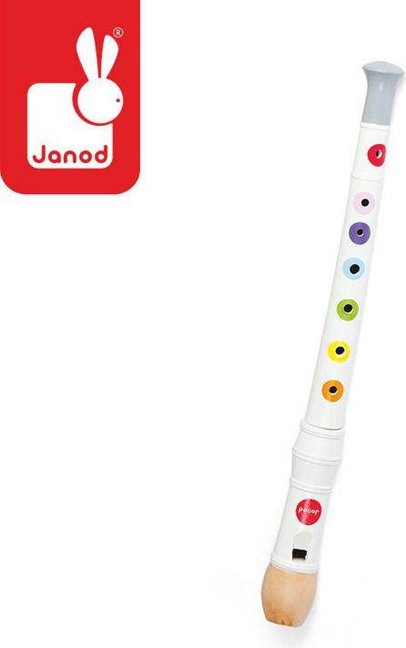 Janod Flet drewniany Confetti opakowanie zbiorcze 8 sztuk, Janod - J07630 J07630