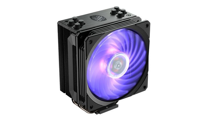 Cooler Master Hyper 212 RGB Black Edition Intel, AMD, CPU Air Cooler procesora dzesētājs, ventilators