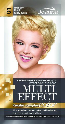 Joanna Multi Effect Color Keratin Complex Szamponetka 01 Piaskowy blond  35 g 525601