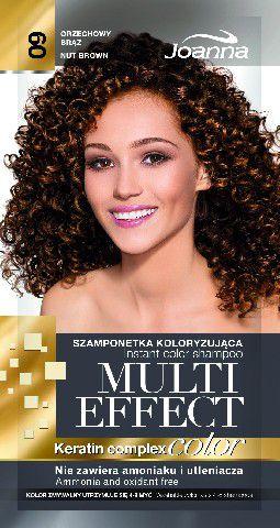 Joanna Multi Effect Color Keratin Complex Szamponetka 09 Orzechowy Braz  35g - 525609 525609