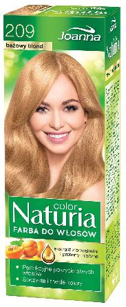 Joanna Naturia Color Farba do wlosow nr 209-bezowy blond  150 g 525209