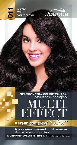 Joanna Multi Effect Color Keratin Complex Szamponetka 11 Kawowy Braz  35 g 525611