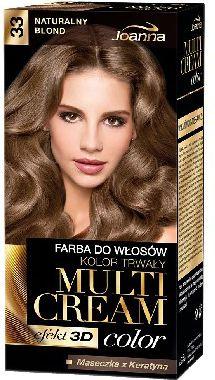 Joanna Multi Cream Color Farba nr 33 Naturalny Blond 525084