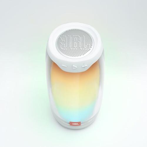 JBL Pulse 4 Full 360 LED light effects, IPX7 Waterproof, White pārnēsājamais skaļrunis