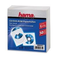 Hama CD-ROM 50 Papierhullen white