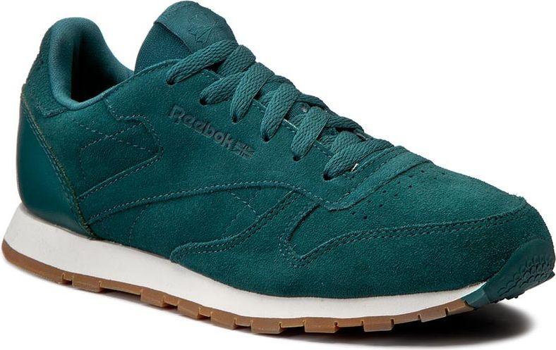 Reebok Buty dzieciece CL Leather SG zielone r. 36 1/2 (CM9079) CM9079