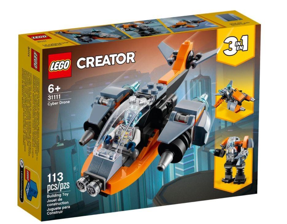 Lego Creator Cyber Drone 31111 LEGO konstruktors