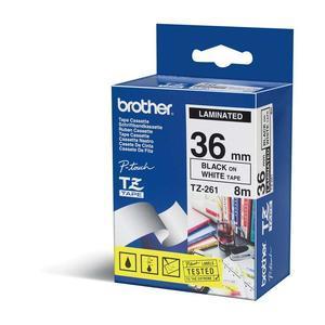Brother TZE-FX261 Tape Black on White 36mm biroja tehnikas aksesuāri