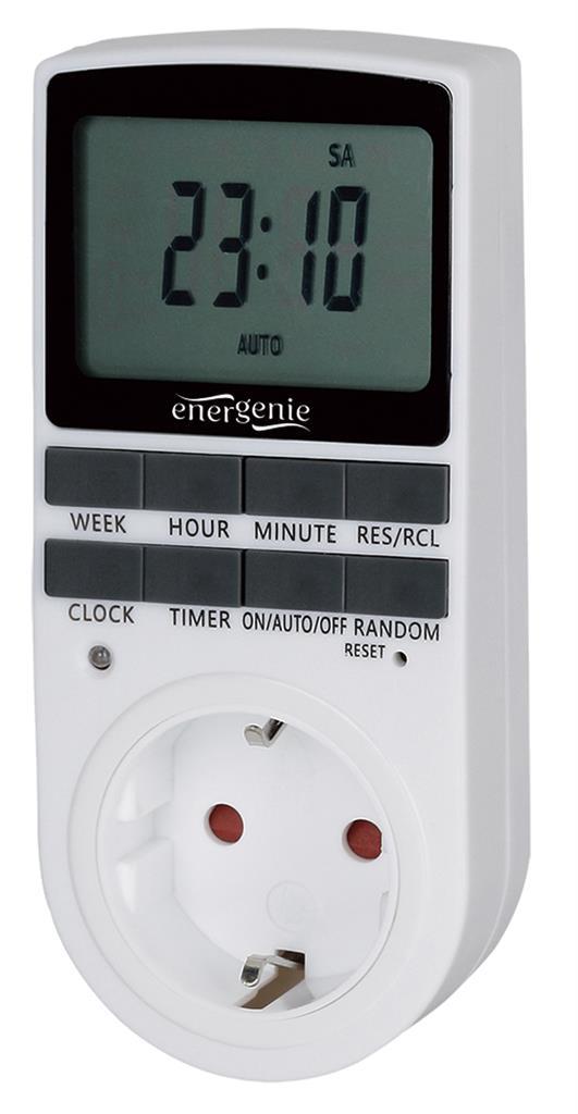 Energenie Smart digital timer socket, Schuko, 16A elektrības pagarinātājs