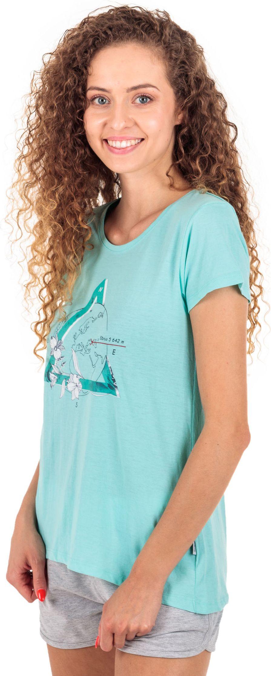 Elbrus Damski T-shirt  SUMMIT WO'S TANAGER TURQUOISE MELANGE r. XS (92800186878) 5902786065318