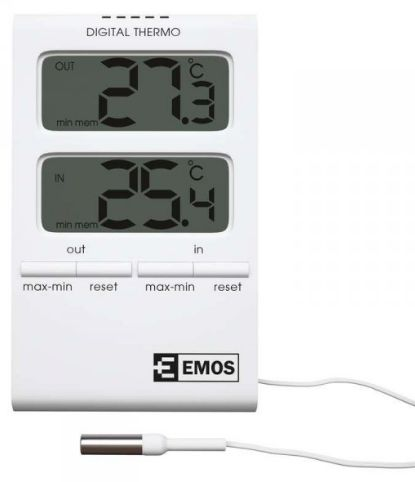 Emos weather station Residential thermometer -50 / + 70 ° C 02101 (E2100) barometrs, termometrs